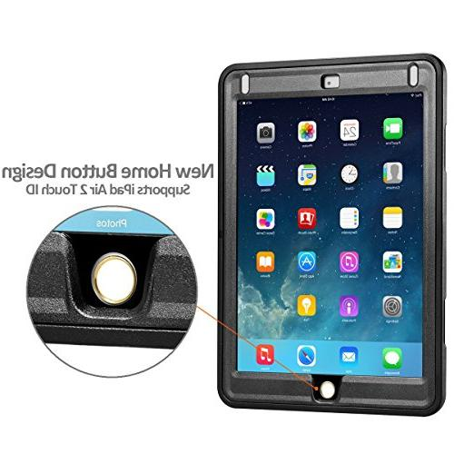 Heavy Duty Rugged Protective Case Built-in Screen & Dual Design Apple 2017/2018
