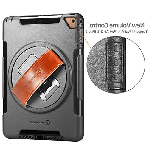 NewTrent Case 2018/2017, Rugged Protective Built-in Screen Protector Dual Design Apple 2017/2018