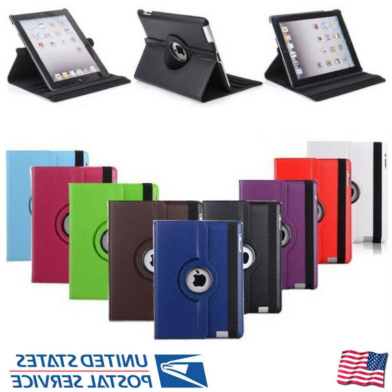 For 2/3/4 360 Rotating Leather Case Cover Stand
