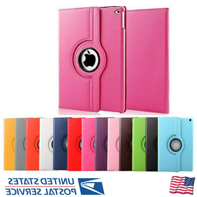 For Apple iPad 360 Leather Case Stand