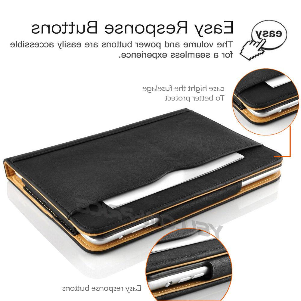 For 10.5 Tablet Slim Leather Wallet Case Stand Cover