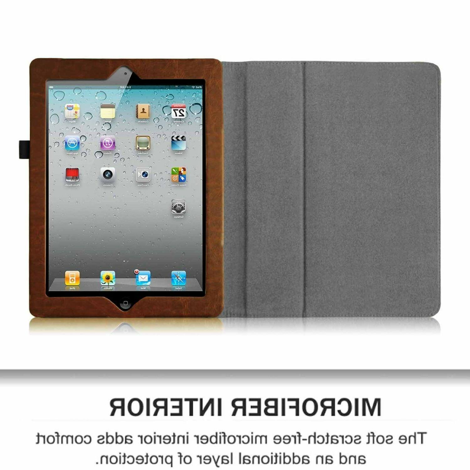 For Apple the new iPad 3 & with Retina Leather Cover