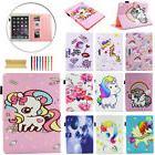 """For Apple iPad 5th Gen 9.7""""/2 3 4 Mini Air 2 Cute Unicorn Sm"""