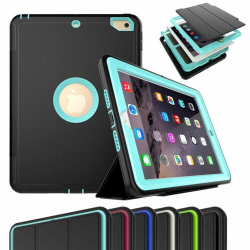 Heavy Duty Stand Hard Case For iPad 9.7 6th 5th Generation w