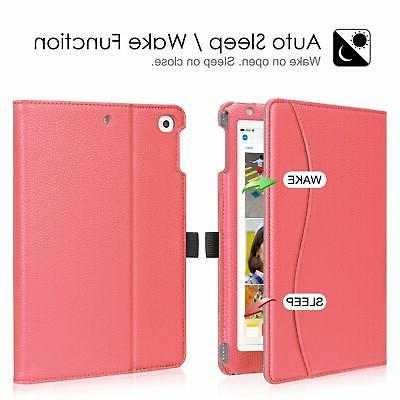 For Apple Folio Case Cover Stand with Pocket Auto Wake/Sleep