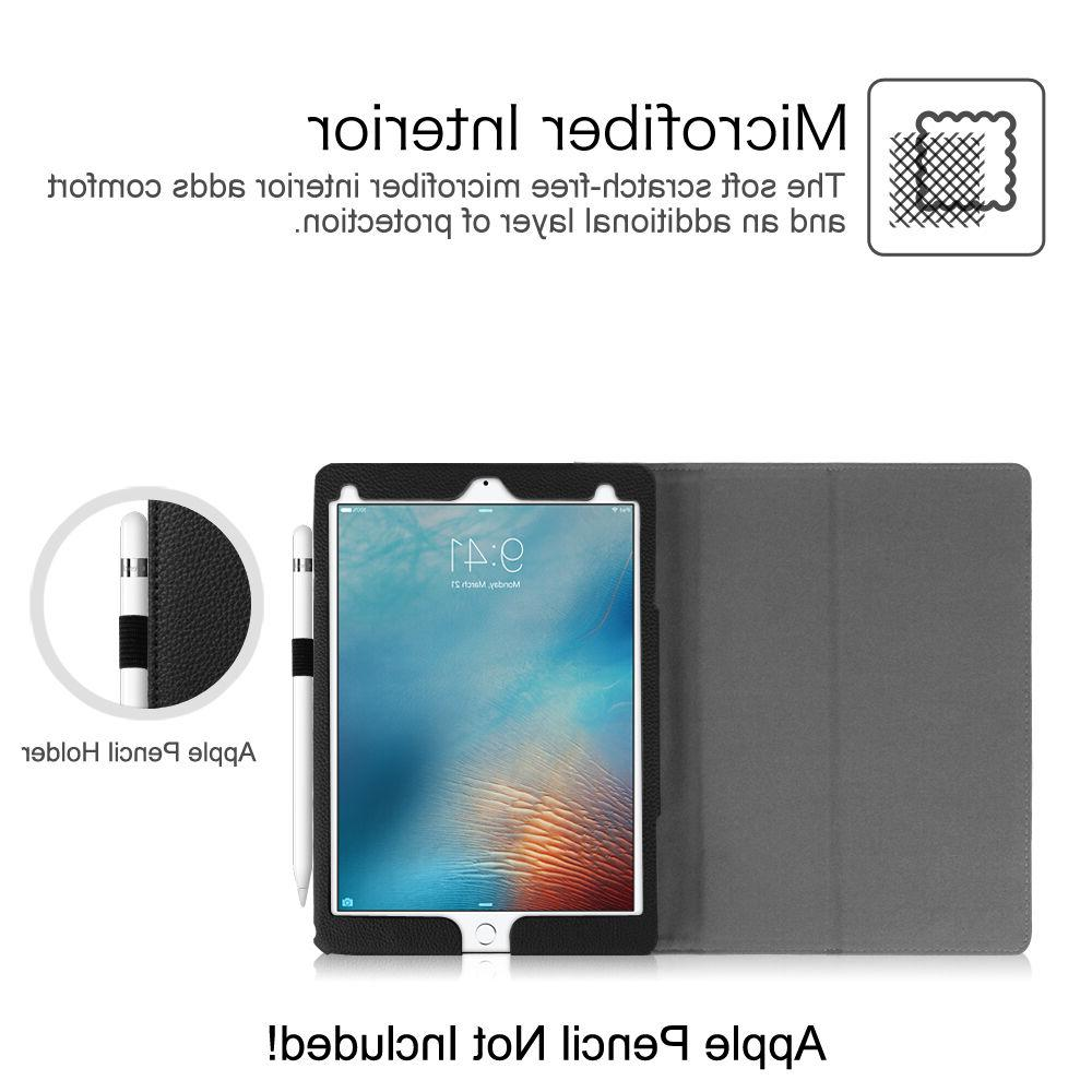 For Apple iPad 9.7 Inch Tablet Folio Case &Screen protector