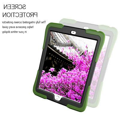 For Apple Screen Protector Case + Shockproof Hybrid Rugged Cover