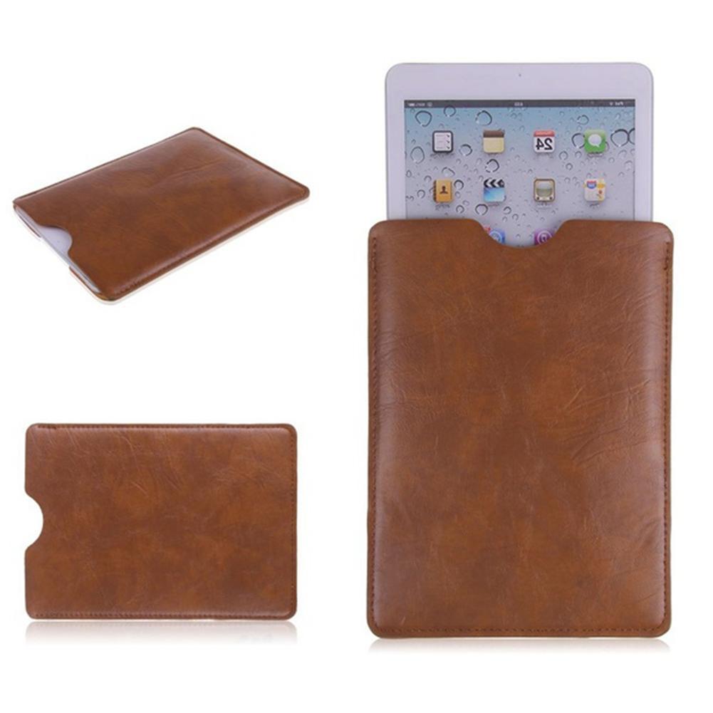 black brown protect pu leather sleeve bag