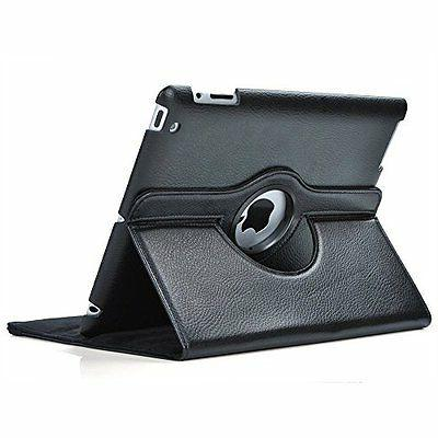 black rotating stand leather case