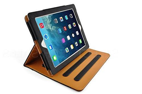 Tan iPad Air 2 Wallet Smart Sleep/Wake Feature