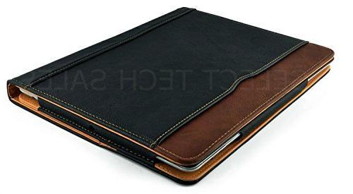 New Black Tan iPad 2 Smart Cover Sleep/Wake Feature Flip Case
