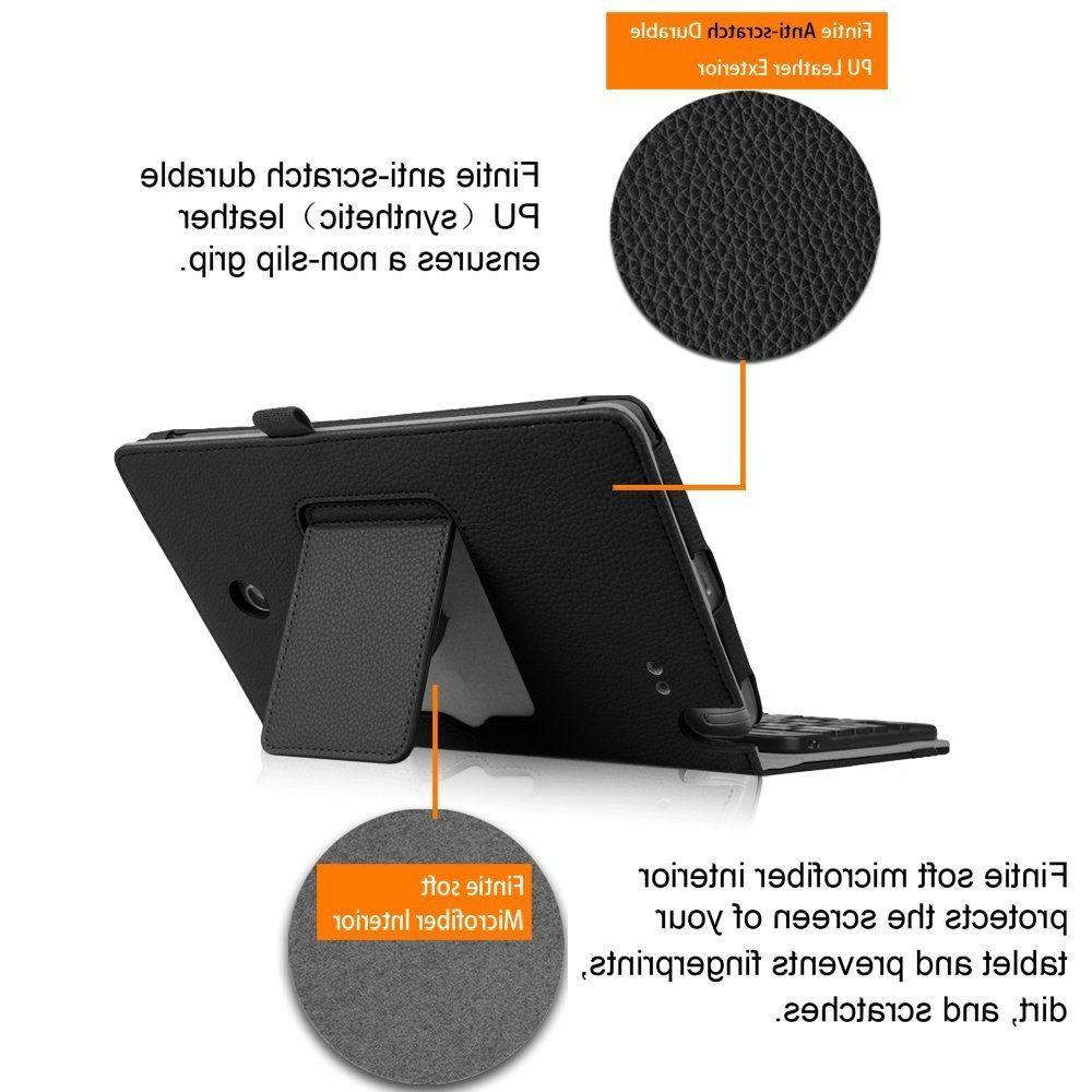 Bluetooth keyboard Leather Case Cover Mini 10.5''