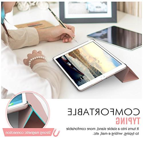 "MoKo iPad Smart-Shell Stand with for Apple 2 9.7"" Tablet, Rose Gold"