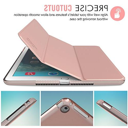 MoKo iPad Air Case Lightweight Smart-Shell Stand Translucent for Air Gold