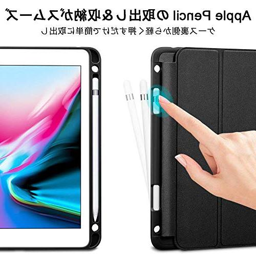 ESR 9.7 2018 with Apple Pencil Leather Protective Cover for Black