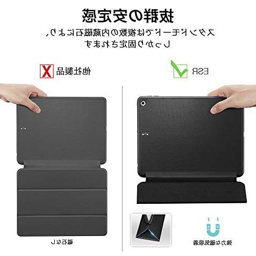 9.7 with Built-in Apple Leather Smart Cover for iPad Black