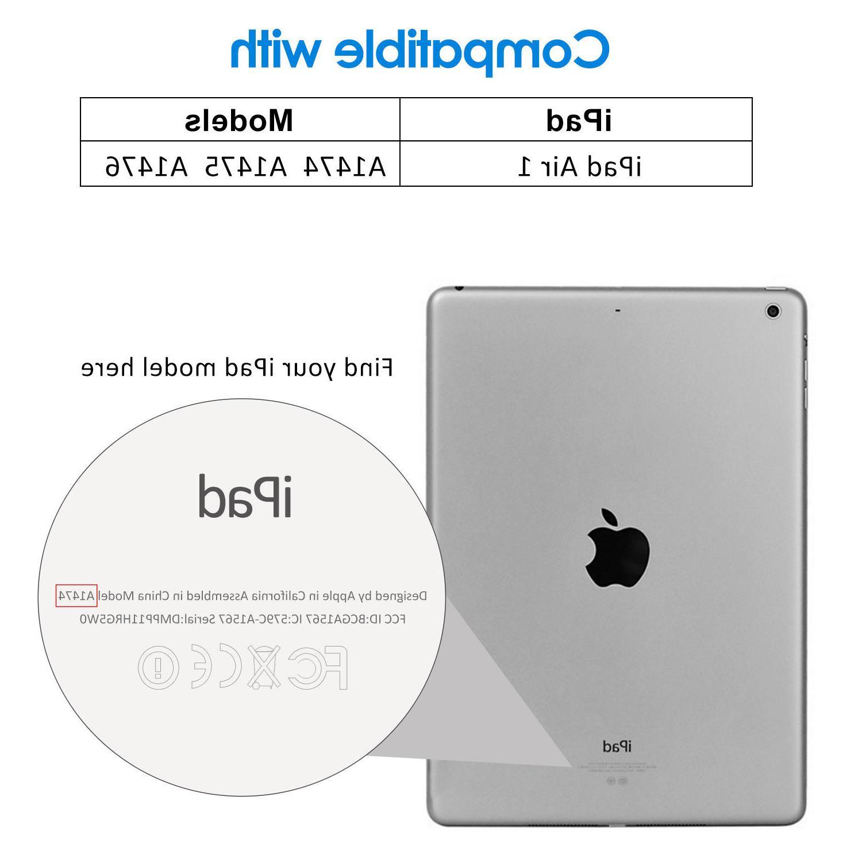 JETech Case iPad Air 2 and iPad Air Smart Cover with Auto Sleep/Wake