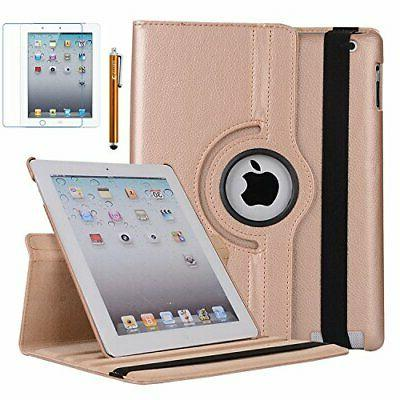 case for ipad 4 rotating stand case