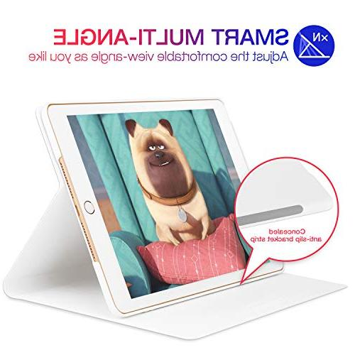 GVIEWIN for iPad 9.7 Case Slim Fit Poetic Adjustable Multiple Angles with Round Protect Case iPad 9.7