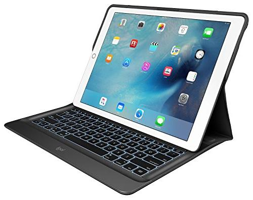 Logitech CREATE for iPad Black, Space Gray Bump Spill Resistant, Scratch Resistant - Height x Depth