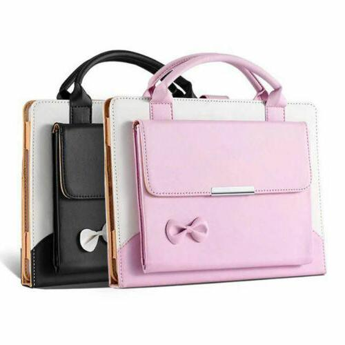 Cute Bowknot Handbag Leather Magnetic Case Cover for iPad 9.