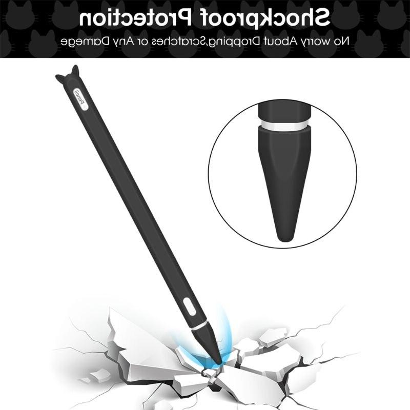 Cute Silicone Cap Holder <font><b>case</b></font> Skin Pencil for pro Pen