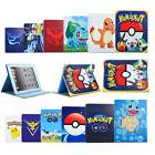 Cute Pokemon Leather Smart Stand Case Cover For Apple iPad 2