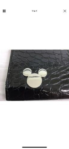 "Disney Clutch iPad Tablet Case 10"" Black Faux Alligator -"