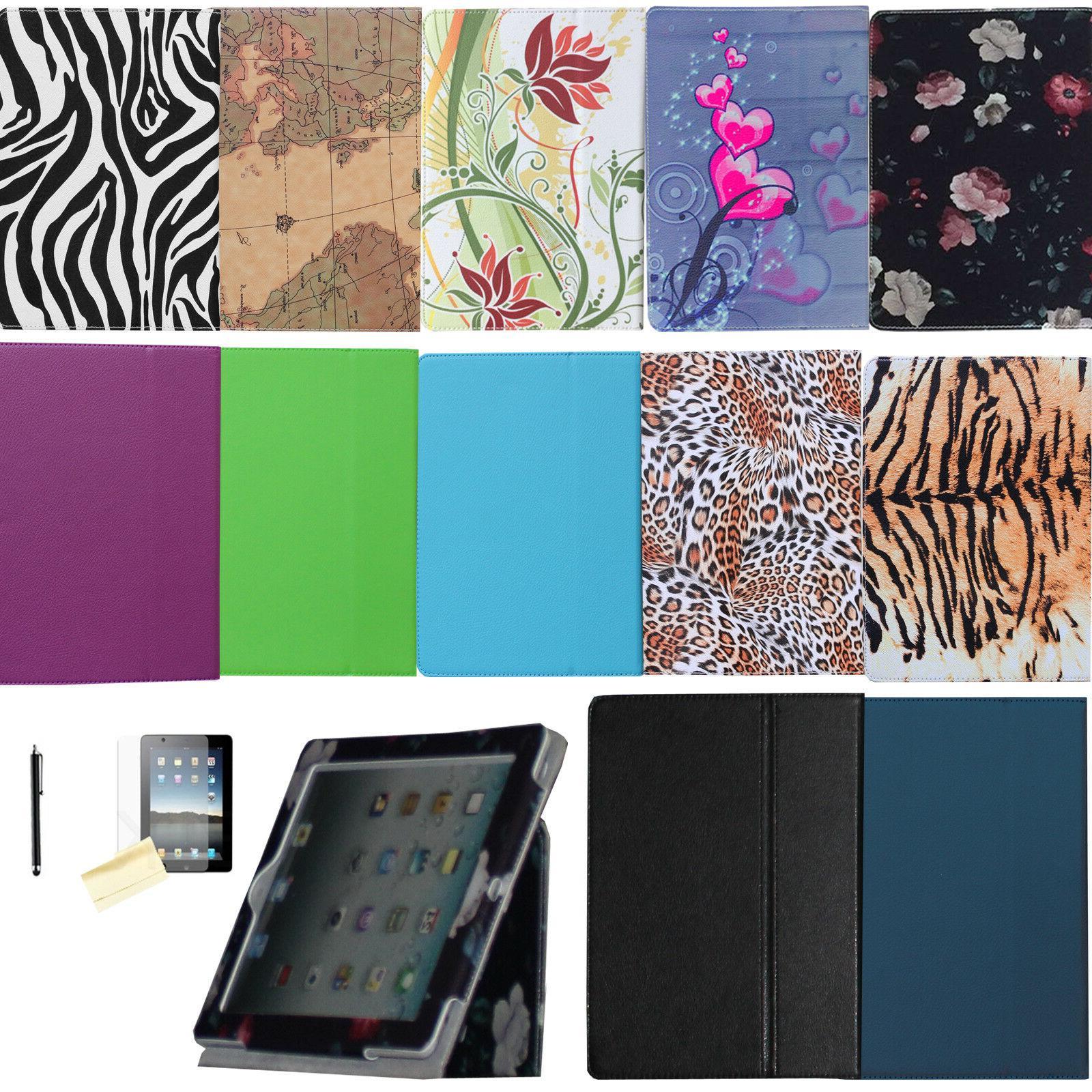 dual fold folio leather case magnetic smart