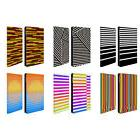 HEAD CASE DESIGNS DYNAMIC STRIPES LEATHER BOOK WALLET CASE F