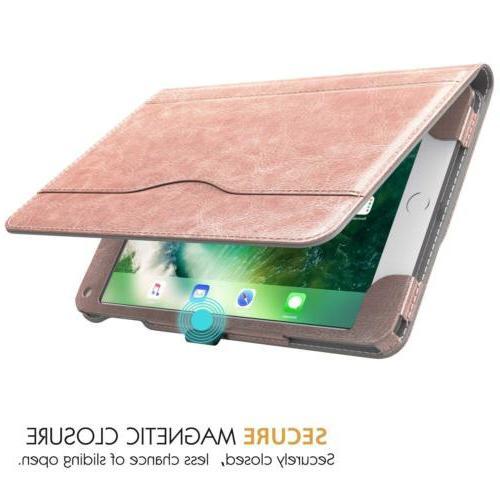 MoKo Slim Folding Stand Folio Case w/ Card Slots for Apple iPad