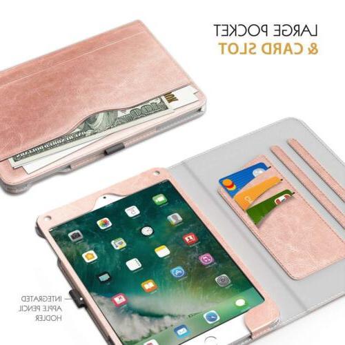 MoKo Folding Folio Cover Case Card for iPad 9.7 2018