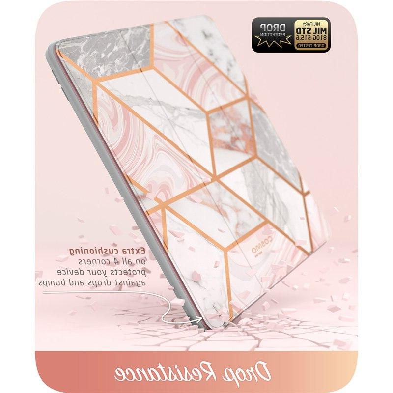 For Air <font><b>Case</b></font> <font><b>iPad</b></font> Pro <font><b>Case</b></font> <font><b>i</b></font>-<font><b>Blason</b></font> Cosmo Marble Trifold <font><b>Case</b></font> with Screen Protector