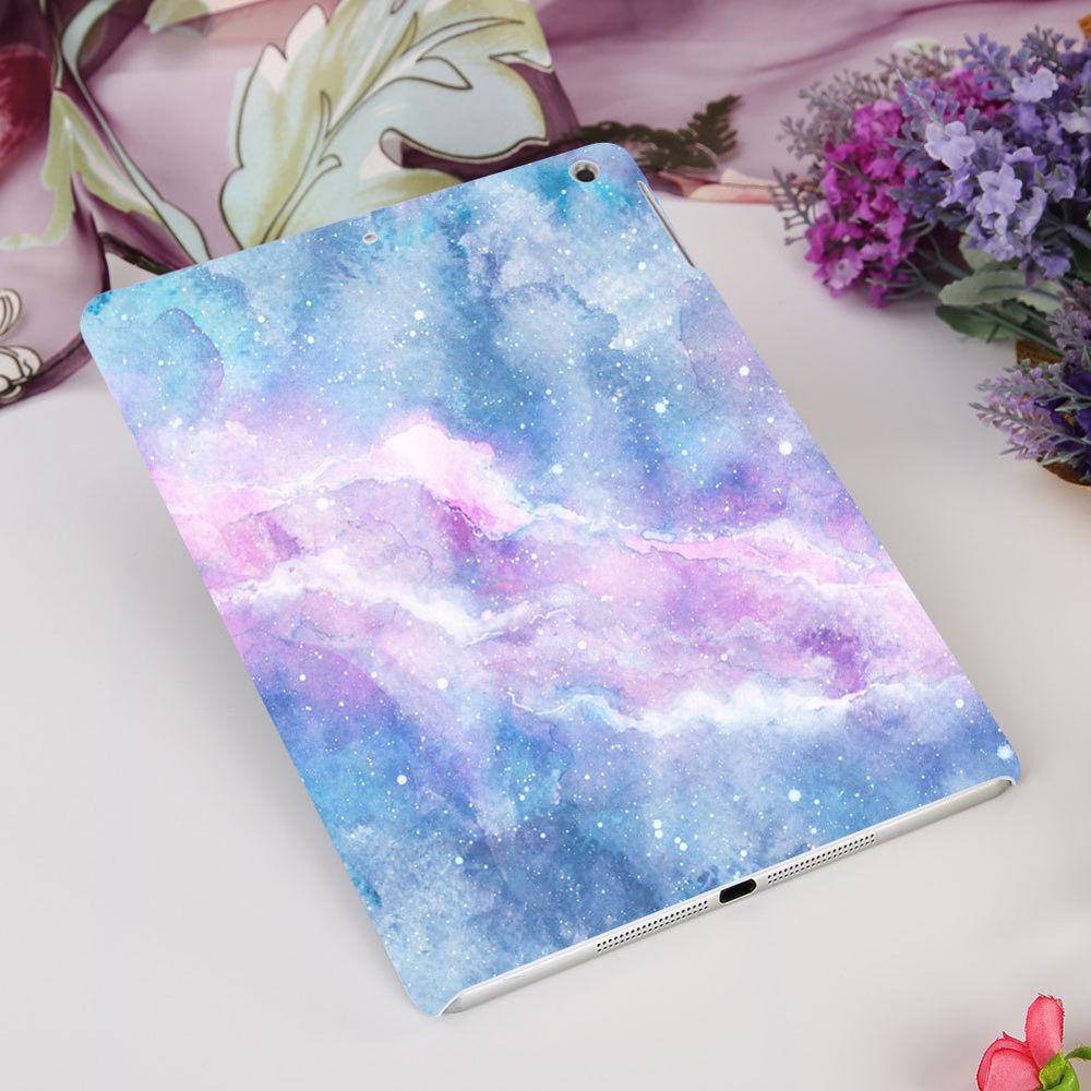HK- 1Pc Gradient Color Marble Cover Case for iPad Air/Air 2/
