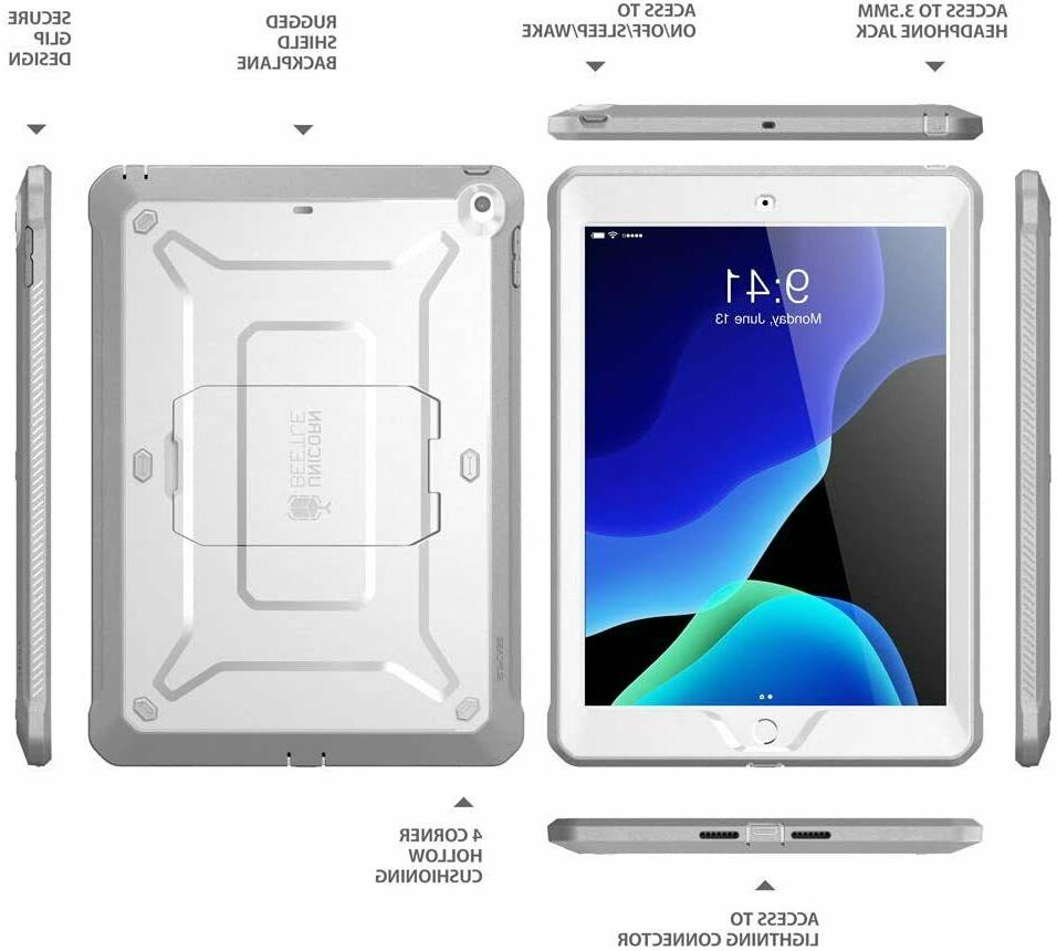 For iPad 7th Case, Kickstand Cover