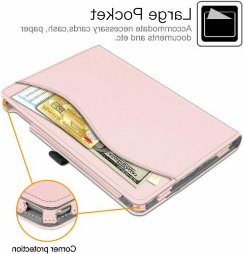 For iPad 10.2 7th Gen Case Multi-Angle Stand Cover w/Pocket Holder