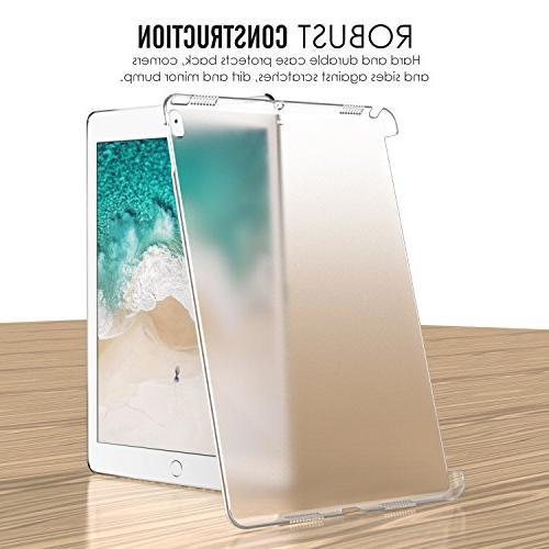 MoKo Pro 10.5 - Translucent Slim Hard Bumper Apple Inch 2017, Clear