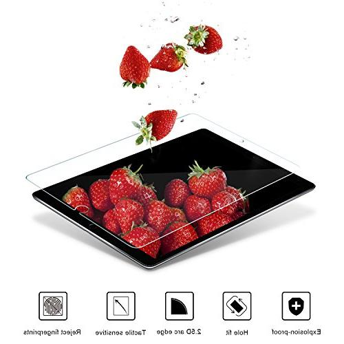 SPARIN iPad Screen Double Shielding Tempered Compatible/Case Friendly / 2.5D Edge/Scratch Resistant for New Pro 10.5