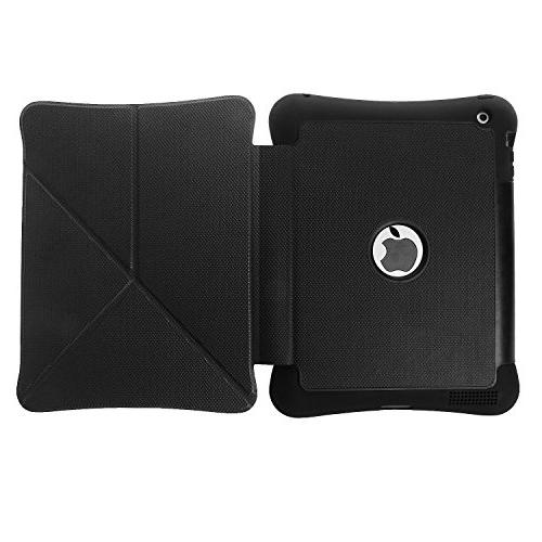 iPad 2 3 / 4 Case, Kickstand Feature Rugged Absorbent Three Layer Hard Rubber with Stylus for iPad / /