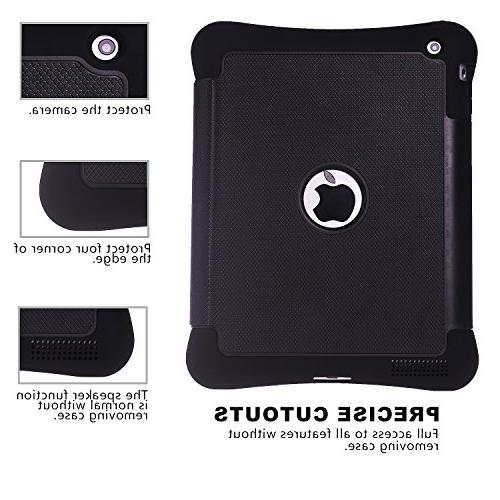 iPad / 3 / 4 Beimu Kickstand Shock Absorbent Rubber Protective Case with iPad / 3rd /