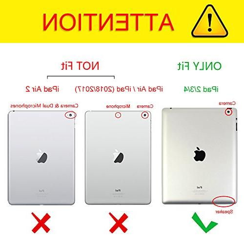 Fintie iPad - Folio Smart Stand Sleep/Wake for Apple iPad Retina Display, Black