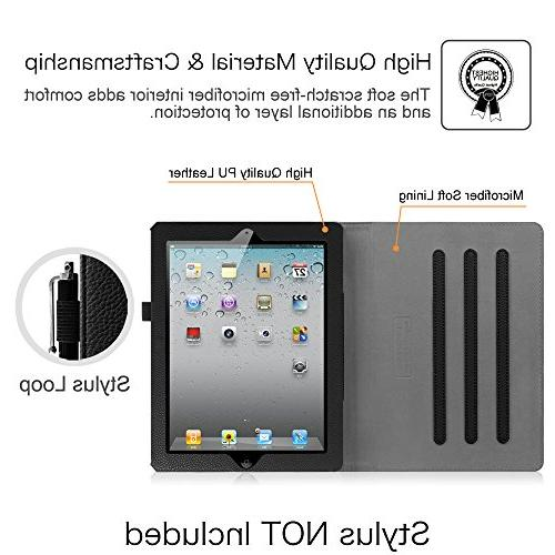 Fintie iPad - Folio Stand Cover Pocket, Sleep/Wake for Apple iPad 2, iPad & iPad 4th Retina