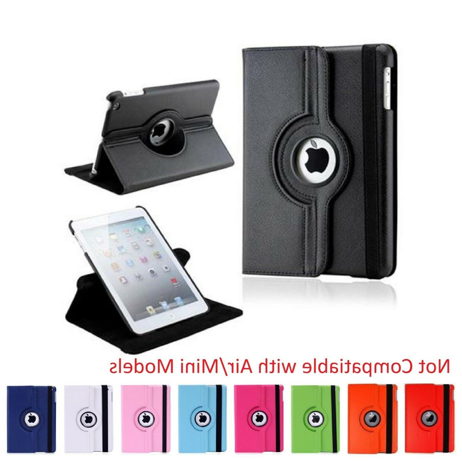 Apple iPad 2 / 3 / 4 Leather Case - Rotates 360 Degrees Magn
