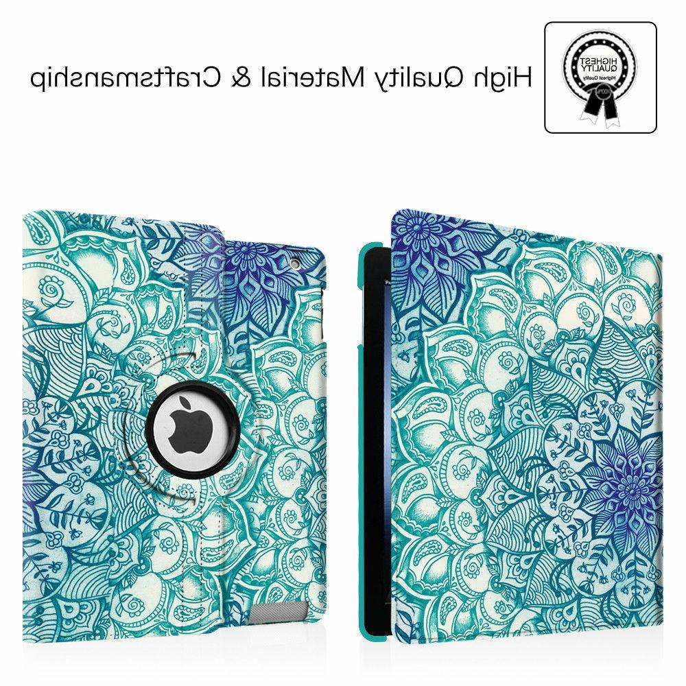 For 2 3 iPad Leather with Auto Wake/Sleep