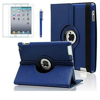 iPad 2 Case, 3 4 AiSMei Rotating Stand Case Cover with Wake
