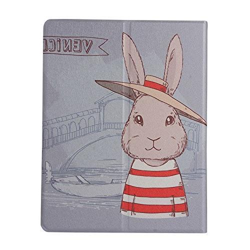 iPad 2 Case, 3 Case, Case, Folio Stand Cover for Apple 3 Rabbit hat