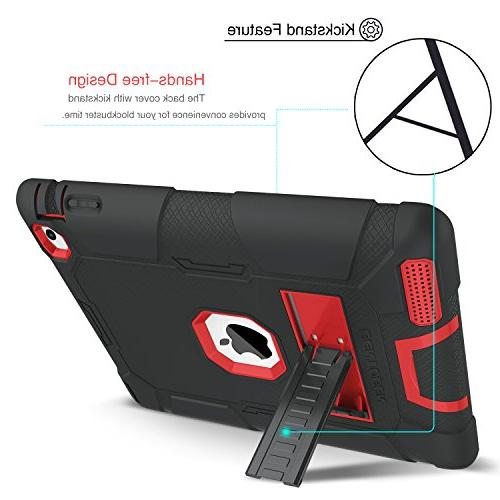 iPad 3 Case, iPad 4 Case, Heavy Shockproof Kickstand in 1 Soft Hard Protective / 4th