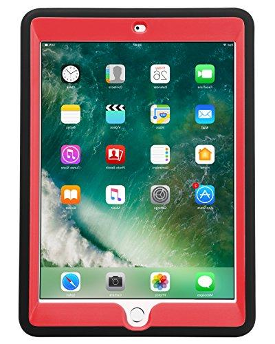 iPad 9.7 inch Duty Rugged Slim Hybrid PC Silicone Full Body Protective Case Cover iPad 9.7 inch,
