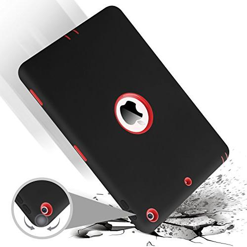 iPad iPad inch BENTOBEN Heavy Duty Shockproof 3 Layers Rugged Hybrid Hard PC Silicone Rubber Full Body Protective iPad Case Cover for iPad 9.7 inch,