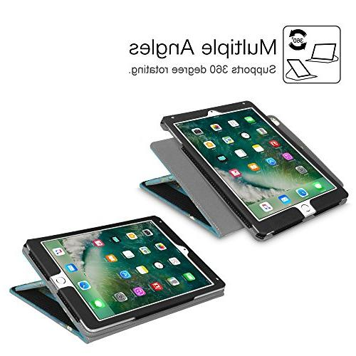 Fintie iPad 2017 / 2 Case Multi-Angle Viewing 360 Auto for Gen, iPad Air 1 2, Blossom